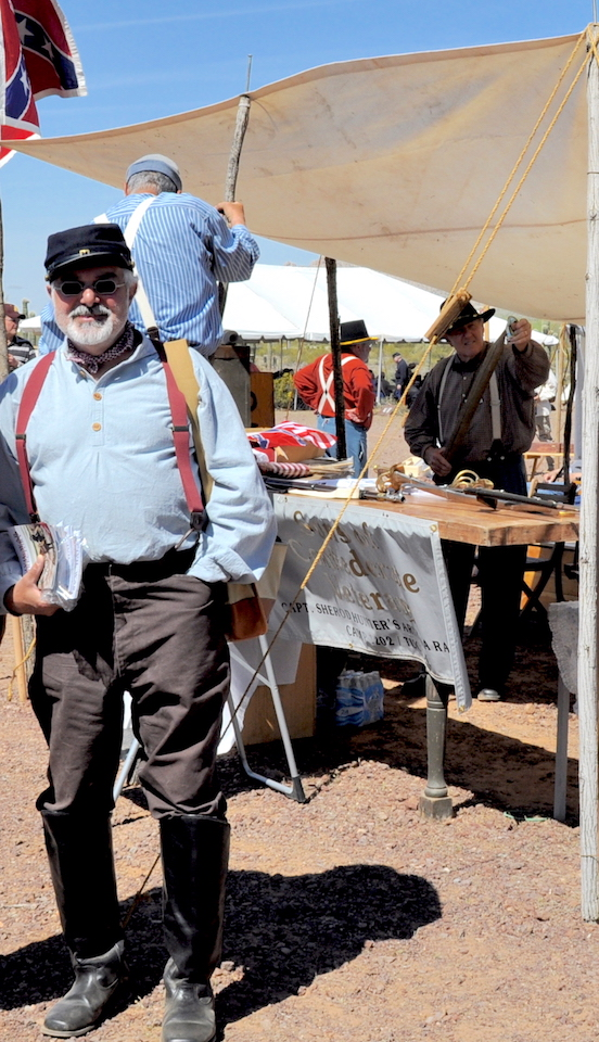 Thomas Valenza at the  Picacho Peak Civil War skirmish in period clothing and specs<br>March 18-19, 2017   Picacho Peak State Park, Arizona