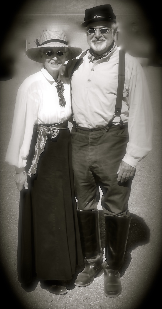 Thomas & Doree Valenza in period dress for the reenactment at Picacho Peak State Park, Arizona<br> Picacho Peak Civil War skirmish March 18, 2017