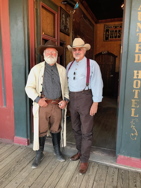 Wyatt Earps Days in Tombstone, Arizona<br>Harold Simpson (ASA Charlie Storms) with Tom Valenza in Tombstone, AZ May 2017 both wearing Historic EyeWear Specs!