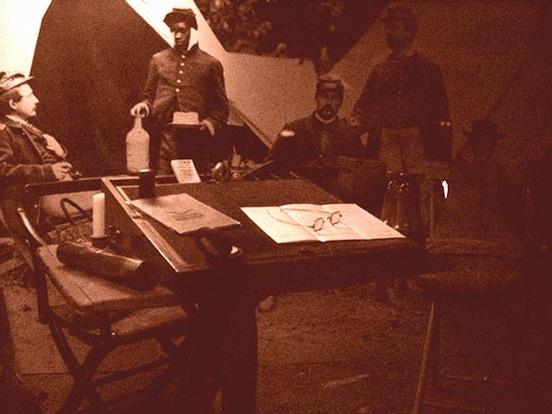 Gettysburg Museum Exhibition- Photograph taken 2003. D. Valenza<br>