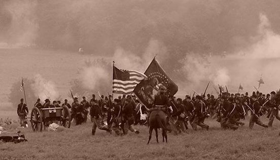140th Gettysburg, Pa.  2003.   Photograph: D. Valenza<br>