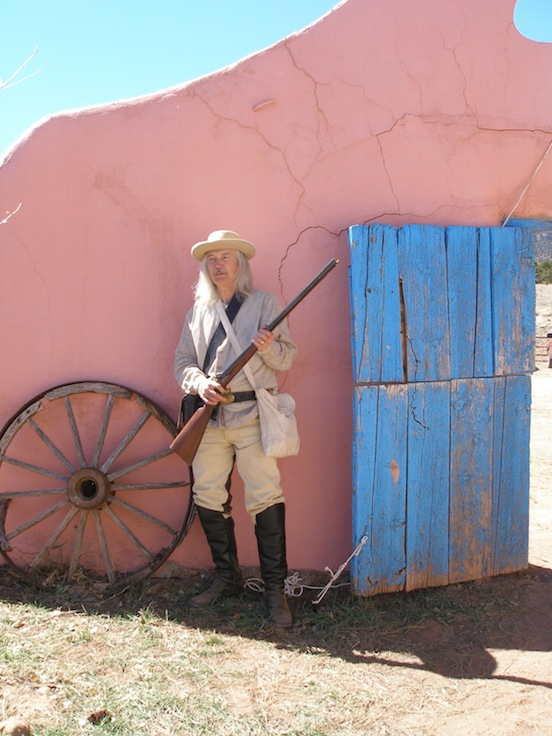 Reenactor at Glorieta Pass, New Mexico  2012<br>