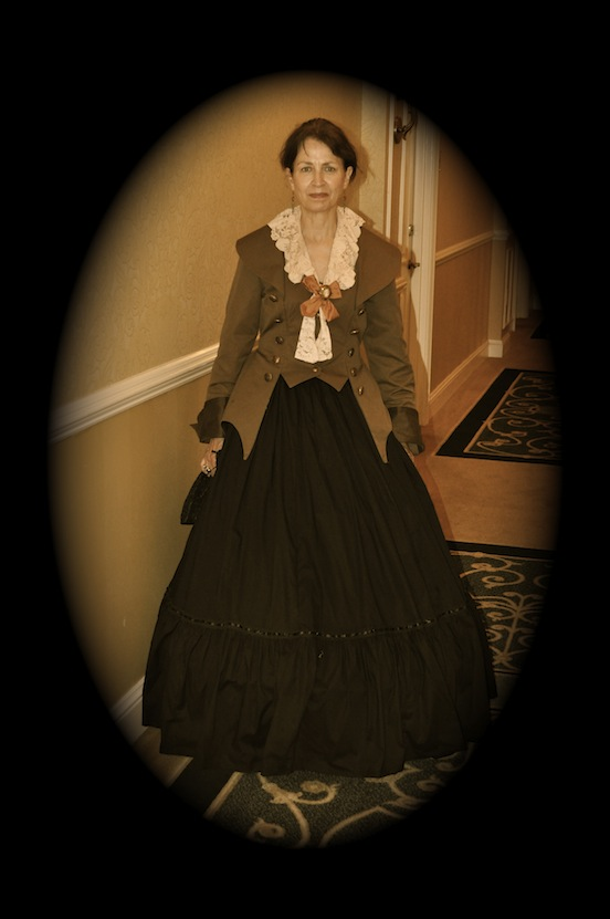 Doree Valenza in period dress, Winchester, Va 2012<br>