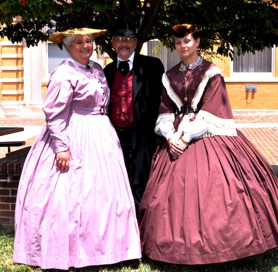 Beechler Family, Maurine, Bernard, Amy Marie, Winchester, Va. <br>The Gathering of Civil War Eagles, 2012