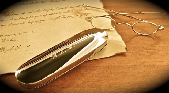 Five Pairs of Civil War Era Eye Glasses (one sunglass)