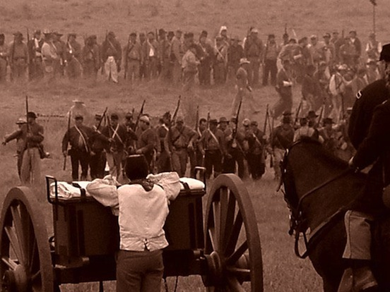 140th Reenactment at Gettysburg, Pa <br>Photograph: D.Valenza