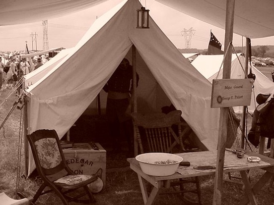 140th Reenactment at Gettysburg, Pa  General Picketts tent<br>Photograph:D.Valenza