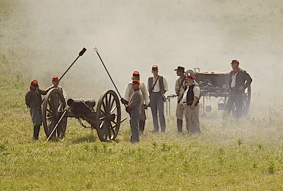 2012 Gettysburg, Pa.  Confederate Artillery Photograph: D. Valenza<br>