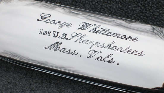 Historic Eyewear Company 1800`s Spectacle Case  with custom engraving<br>G.Whittemore