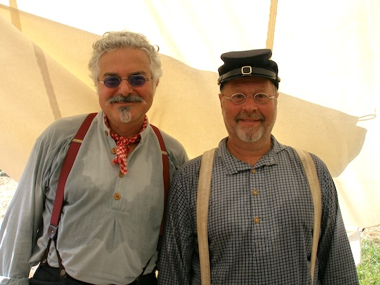 Tom and Glen Texter from Columbia Falls, Maine<br>Tom meets his online customer in the flesh at the 150th Gettysburg!