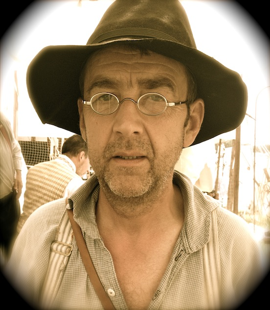 Tony Murray in his new specs at the 150th Gettysburg<br>Mr. Murray is from Dublin, Ireland