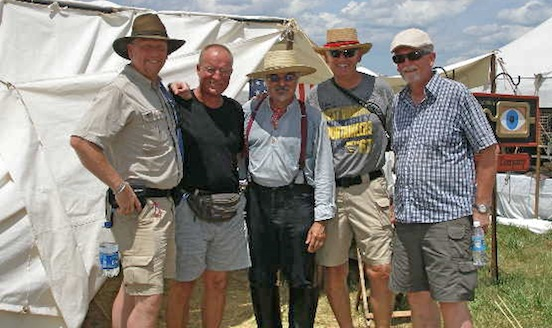Thom, Anders Cedergren and the boys from Sweden <br>Visiting from Sweden at the 150th Gettysburg