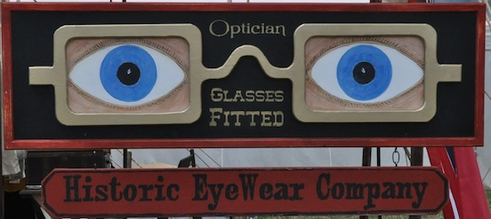 Historic EyeWear Company trade sign<br>