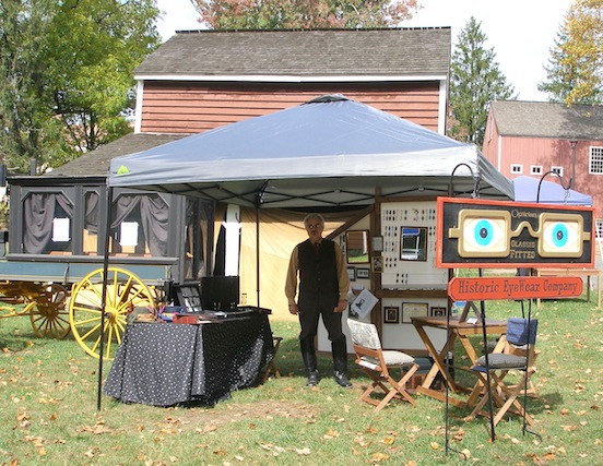 Our tent at the International Steampunk City event<br>Morristown, New Jersey