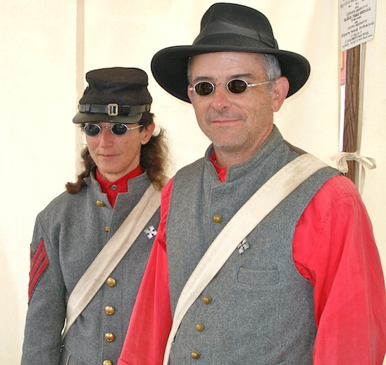 Sharon and Chris Peters<br>Reenactors at Cedar Creek Battle Reenactment
