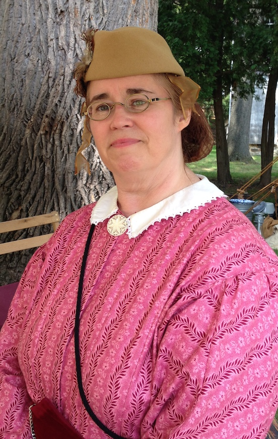 Michelle Cantona, NJ, is a  Living Historian who portrays a nurse<br>Morristown,NJ Civil War reenactment, July 2014