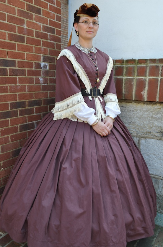 Amy Marie Beechler, portraying Laura Ratcliffe, Confederate spy.        <br>