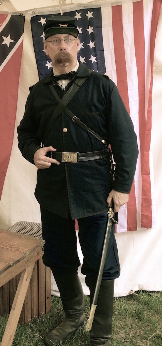 Mark McNierney<br>At the N.J.Civil War Heritage Association Encampment, Allaire State Park, May 2015