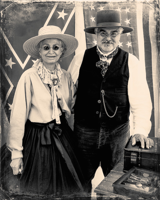 Doreen & Thomas Valenza, Photo taken by Michael J. Milchanowski<br>At the N.J.Civil War Heritage Association Encampment,Allaire State Park, May 2015