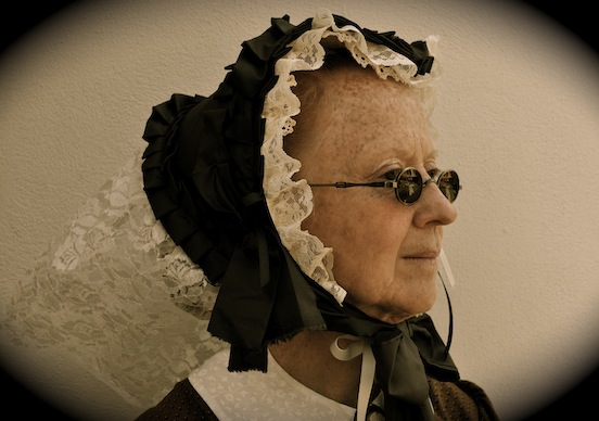 Lynda Kerr, portraying Mrs. Louise Longstreet,Gathering of Civil War Eagles, Winchester, Va. 2012<br>Photograph: D. Valenza