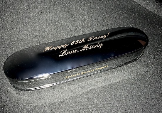 Happy Birthday engraved case<br>A great gift idea!
