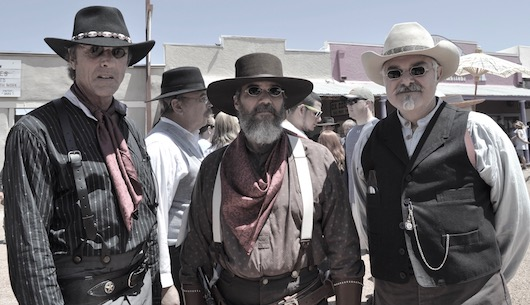 Doc HolliDays in Tombstone, Arizona<br>Thomas Valenza with David Speed and sidekick at the 1st Annual Doc HolliDays with Val Kilmer as the Grand Marshall of the parade