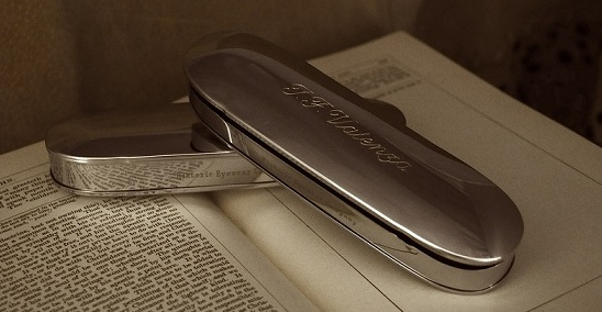 Historic Eyewear Company Flip-Top Spectacle Case custom engraved<br>Photograph: D. Valenza
