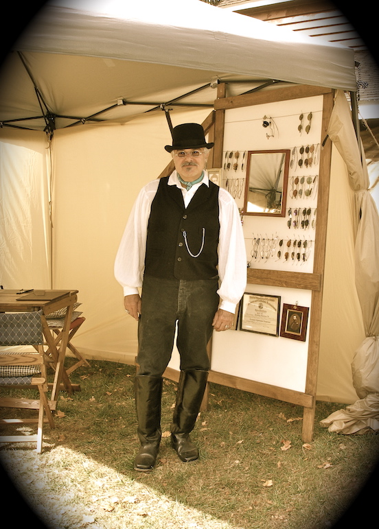 Tom Valenza -wearing 1835-80 Octagon<br> At Steampunk event