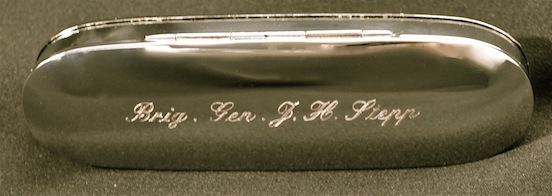 Historic Eyewear Company 1800`s Spectacle Case  with custom engraving<br>Brig. General J. H. Stepp
