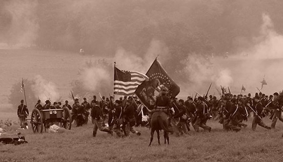 140th Gettysburg, Pa.  2003.   Photograph: D. Valenza<br>