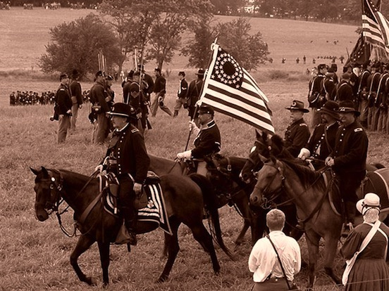 140th Reenactmnet at Gettysburg, Pa. The Federals<br>Photograph: D.Valenza