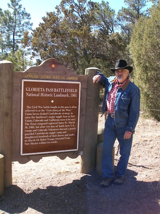 Thom Valenza at Glorieta Pass, New Mexico 2012<br>